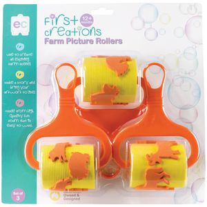 First Creations Farm Picture Rollers Assorted 3 Pack