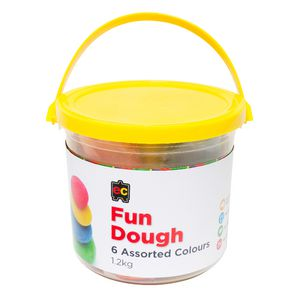 Educational Colours Fun Dough Assorted Colours 1.2kg