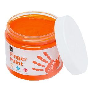 Educational Colours Finger Paint 250mL Orange