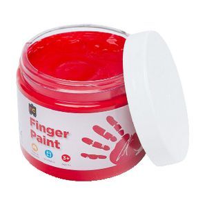 Educational Colours Finger Paint 250mL Red