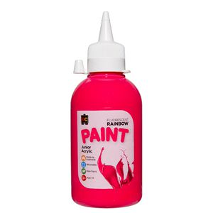 Educational Colours Rainbow Acrylic Paint 250mL Fluoro Pink