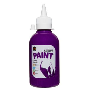 Educational Colours Rainbow Acrylic Paint 250mL Fluoro Purple