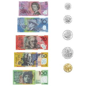 Educational Colours Magnetic Money Coins and Notes