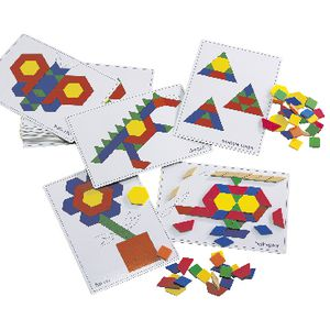 Learning Can Be Fun Pattern Blocks Picture Cards 20 Pack