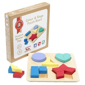 Learning Can be Fun Colour and Shape Puzzle Board
