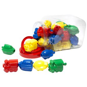 Learning Can Be Fun Transport Blocks Jar of 24