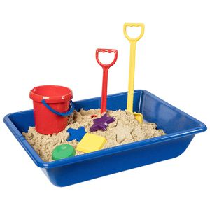 Learning Can Be Fun Sand and Water Play Tray Blue