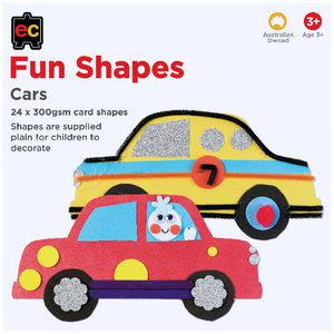 Educational Colours Fun Shapes Cars 24 Pack