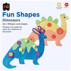 Educational Colours Fun Shapes Dinosaur 24 Pack