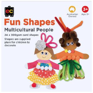 Educational Colours Fun Shapes Person 24 Pack