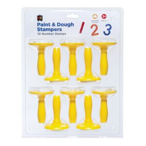 Educational Colours Paint and Dough Stamper Number 10 Pack