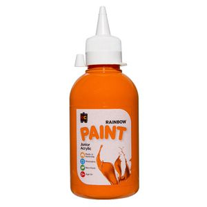 Educational Colours Acrylic Paint 250mL Orange