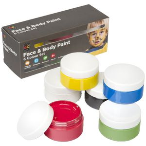 Educational Colours Face And Body Paint 50 mL 6 Pack