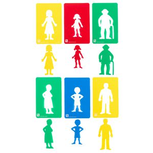 Educational Colours Stencils Family Set