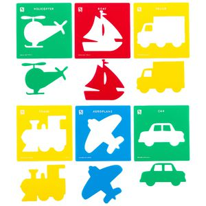 Educational Colours Stencils Transport Set