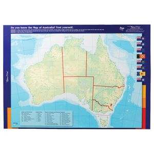 Stupendous Gillian Miles Map Of Australia Double Sided Wall Chart Beutiful Home Inspiration Xortanetmahrainfo