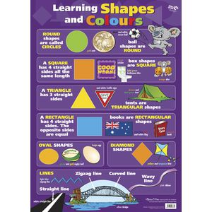Gillian Miles Learning Shapes and Colours Chart