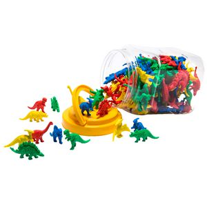 Educational Colours Dinosaur Counters 128 Pack