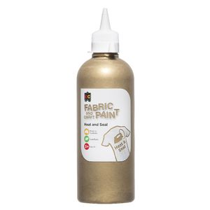Educational Colours Fabric and Craft Paint 500mL Gold