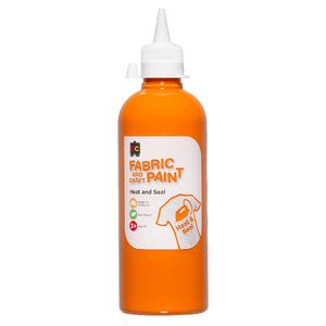 Educational Colours Fabric and Craft Paint 500mL Orange