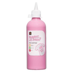 Educational Colours Fabric and Craft Paint 500mL Pink