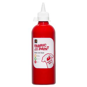 Educational Colours Fabric and Craft Paint 500mL Red