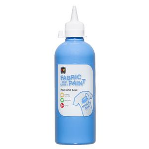 Educational Colours Fabric and Craft Paint 500mL Sky Blue