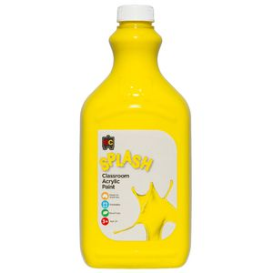 Educational Colours Classroom Splash Paint 2L Sunshine Yellow