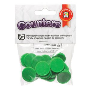 Educational Colours Small Counters Green 30 Pack