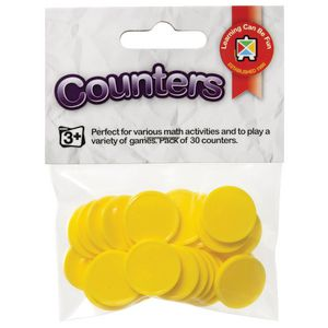 Educational Colours Small Counters Yellow 30 Pack
