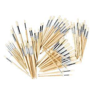 Educational Colours Paintbrushes 60 Pack