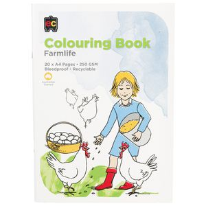 Educational Colours Colouring Book Farm Life