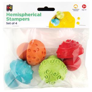 Educational Colours Hemispherical Pattern Stampers 4 Pack