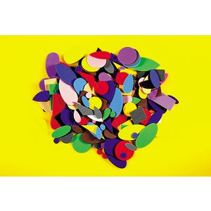 Educational Colours Foam Shapes 250 Pack