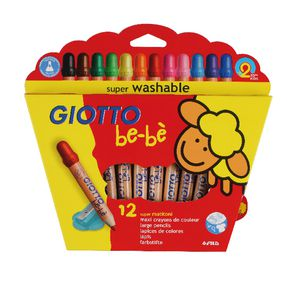 Giotto Be-Be Super Jumbo Coloured Pencils 12 Pack