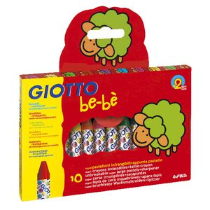 Giotto Be-Be Super Large Crayons Assorted Colours 10 Pack