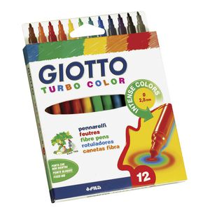 Giotto Turbo Colour Markers 12 Pack
