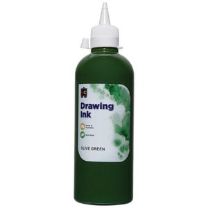 Educational Colours Drawing Ink 500mL Olive Green