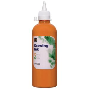 Educational Colours Drawing Ink 500mL Orange