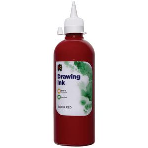 Educational Colours Drawing Ink 500mL Brick Red