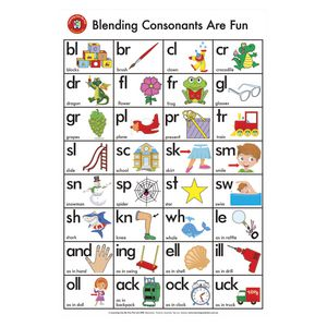 Learning Can Be Fun Wall Chart Blending Consonants Are Fun