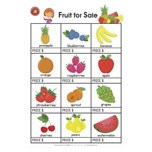 Learning Can Be Fun Fruit For Sale Poster