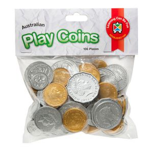 Learning Can Be Fun Plastic Australian Coins 106 Pack