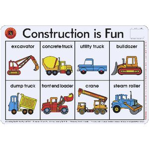 Learning Can Be Fun Construction Is Fun Placemat