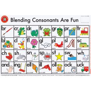 Learning Can Be Fun Blending Consonants Are Fun Placemat