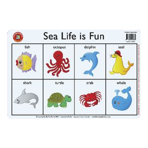 Learning Can Be Fun Sea Life Placemat