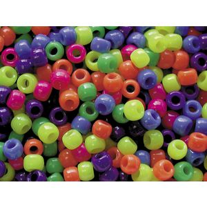 Educational Colours Pony Beads Neon 1000 Pack