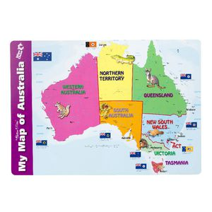 Gillian Miles My Map of Australia Placemat  Officeworks