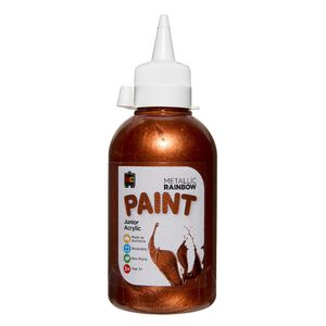 Educational Colours Rainbow Paint 250mL Metallic Copper