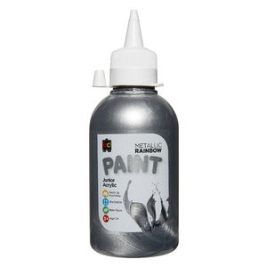 Educational Colours Rainbow Paint 250mL Metallic Silver
